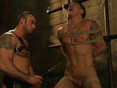 Real-life couple Spencer Reed and Phillip Aubrey doing a BDSM scene for the first time.