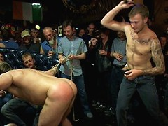 Gang fucked on the pool table in public
